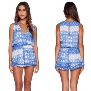 Show Me Your MuMu Riri Romper Teacup Tulips Ruffle